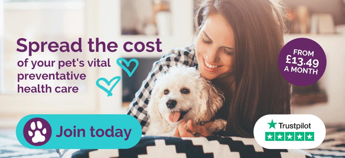 Spread the cost of your pet's vital preventative health care