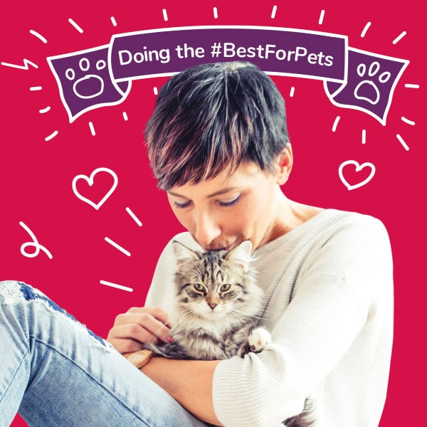 Woman and her cat - Doing the #BestForPets